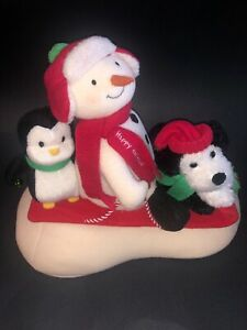 Hallmark-Jingle-Pals-2007-Sleigh-Ride-Music-Motion-Plush-Snowman-Penguin-Dog