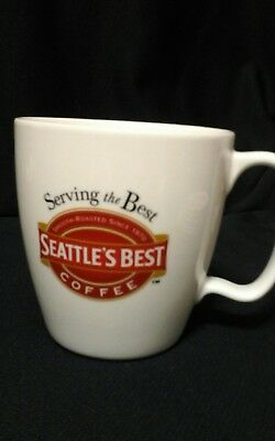 2005 Seattle/'s Best Coffee 16 OZ Mug  Red White SBC Washington Tea Cup EUC