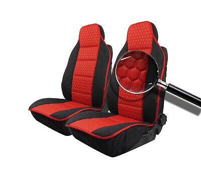 2x Housse de Siège Housses de Sièges Rouge pour Kia Mazda Mini Mitsubishi Nissan