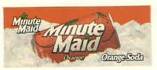 "Minute Maid Orange Vending Machine Insert, Oranges Can Logo, 1 3/8"" x 3 3/8"""