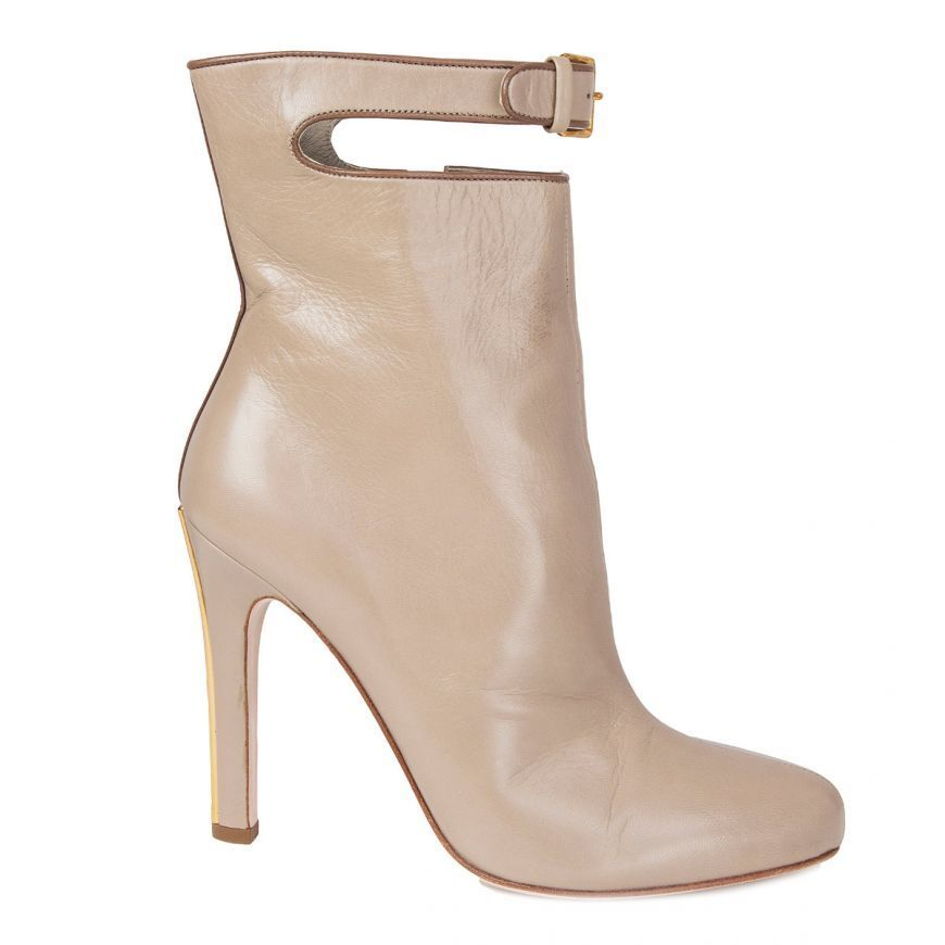 56500 Cuero gris Pardo Auth Miu Miu Miu Miu Cut-out-Correa De Tobillo botas Hasta el Tobillo Zapatos 39  tienda de venta