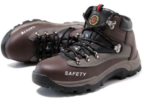 Mens Steel Toe Prevent Puncture Safety Shoes Winter Fur Lined Sneaker Work Boots