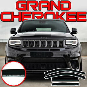 IN CHANNEL WIND DEFLECTORS FOR JEEP GRAND CHEROKEE 4 PCS 2011-2019