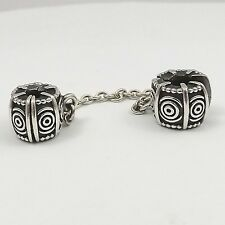 Pandora Sterling Silver Dreamer Safety Chain Bead Charm 790583  6.2gr