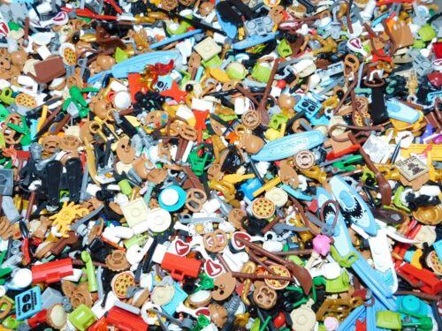 LEGO BULK LOT OF 300 NEW MINIFIGURE ACCESSORIES TOOLS UTENSILS FIGURE PIECES