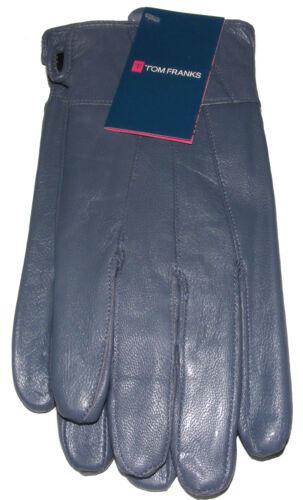 Damen Damen-Medium Neu Groß Blau Weich Echt Leder Handschuhe