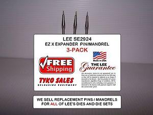 7.35 CARCANO LEE EASY X EXPANDER LEE SE2924 3-PK For LEE 90766 2-DIE SET