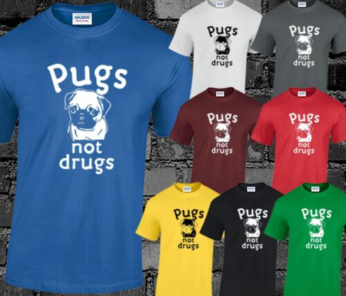 Pugs Not Drugs Mens T Shirt Funny Joke Dogs Novelty Gift Present Idea Top Hipste