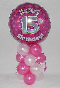 Image Is Loading 15TH BIRTHDAY AGE 15 GIRL PINK FOIL BALLOON