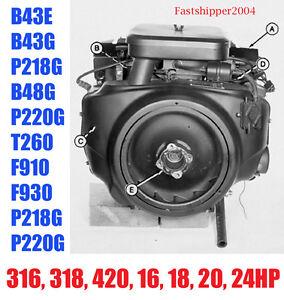 onan engines service manual b43e b43g p218g b48g p220g 316 318 420 rh ebay com Onan P220G Replacement Engine onan p220g parts manual