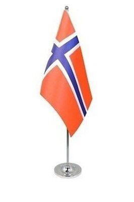 "NORWAY TABLE FLAG 9/"" X 6/"" 22.5cm x 15cm flags NORWEGIAN"