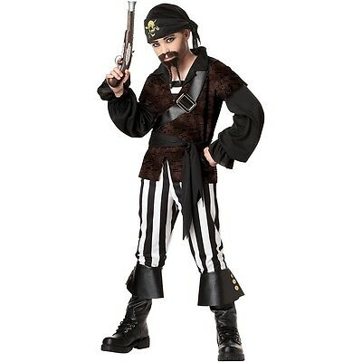 Swashbuckler Pirate Kids Preteen Tween Boys Halloween Costume Fancy Dress New
