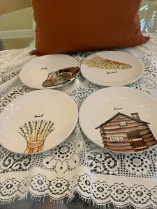 Rae-Dunn-Thanksgiving-8-034-Appetizer-Plates-Set-of-4-FALL-2020-NEW