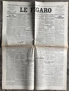 N138-La-Une-Du-Journal-Le-Figaro-1er-Aout-1923