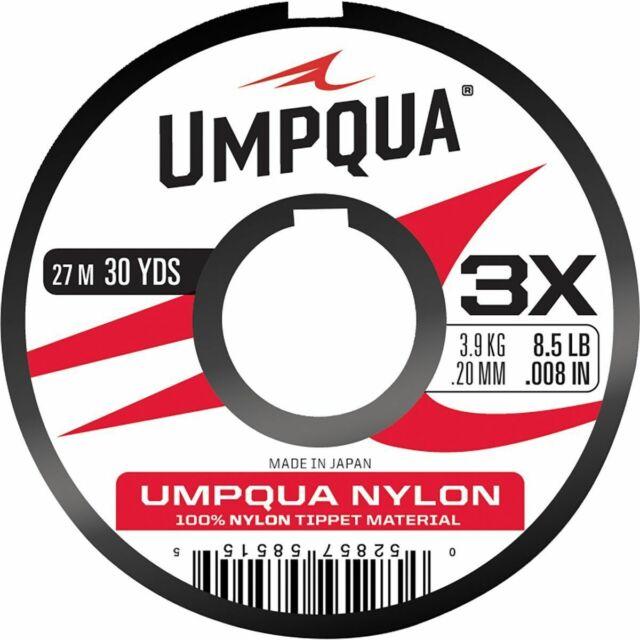 Umpqua 100/% Superfluoro Fluorocarbon Tippet 2X 11 pound