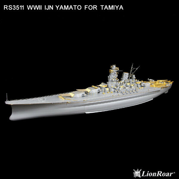 LionRoar Photo-etched details 1 350 WWII IJN Battleship Yamato for Tamiya  NEW