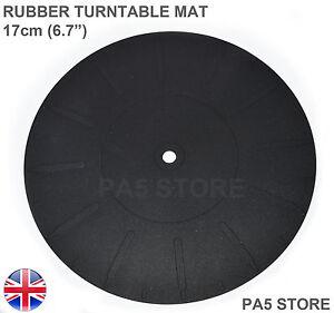 Rubber-Turntable-Platter-Mat-17cm-6-7-034-Universal-Crosley-Ion-Vibe-Pyle-Jensen-UK