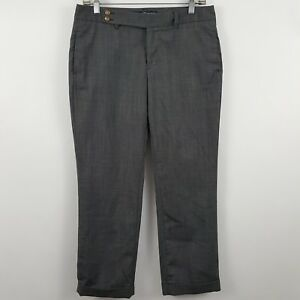 Gap-Straight-Charcoal-Gray-Women-039-s-Career-Dress-Pants-Sz-6-30-x-27