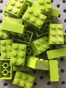 Lego Bulk lot of 25 New 2x3 Yellow  Blocks Bricks 2 X 3