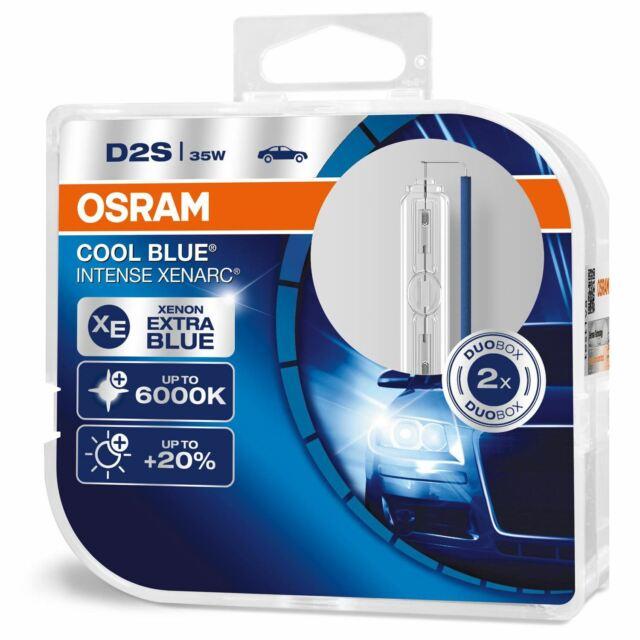 Osram 66240CBI-HCB D2S XENARC Cool Blue Intense 6000K Xenon Gas Upgrade Bulb x2