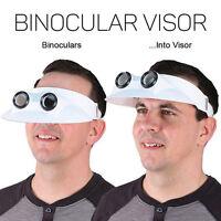 Binocular Sun Visor Hat 3x Magnification