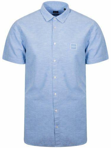 Boss Magnéton Bleu Chemise à manches courtes