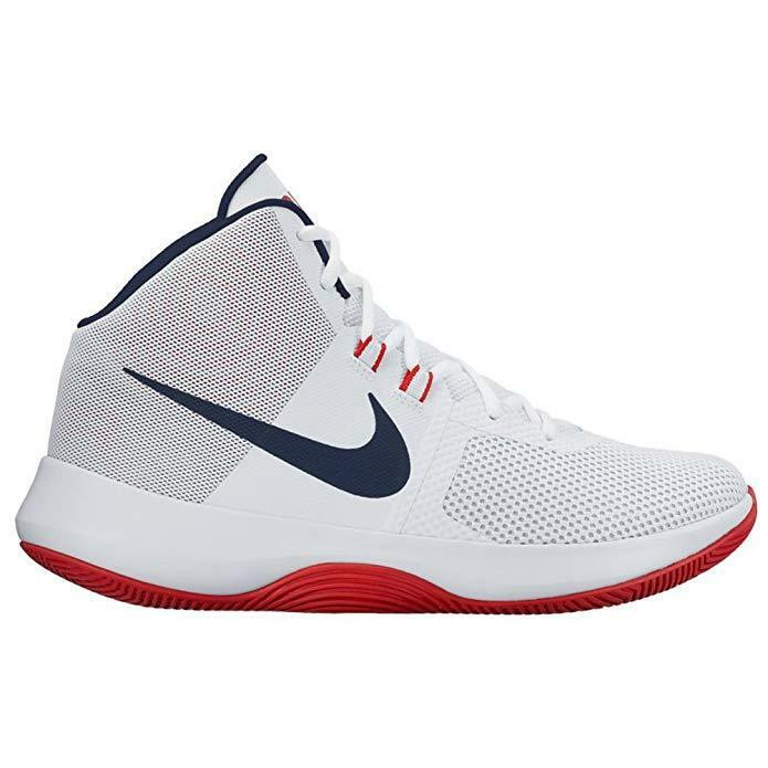 NIKE New Men's Air Precision Basketball shoes Size 11.5 colors White,Red & bluee