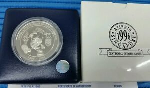 1996-Singapore-100th-Anniversary-of-the-Olympics-Silver-Proof-Medallion