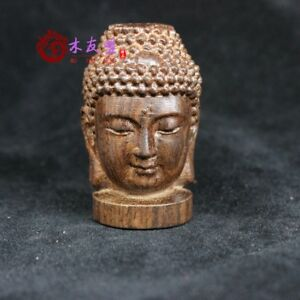 Old-China-Tibet-carvings-of-Buddha-head-Statues-Collectibles-Buddha-Religion-7CM