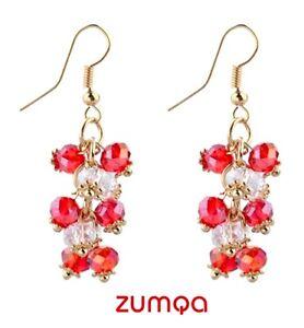 Bohemian-Luxury-Crystal-Beads-Tassel-Earrings-by-ZUMQA-WHITE-RED