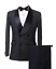 Mens-Suits-Double-Breasted-Houndstooth-Groom-Shawl-Lapel-Tuxedos-Wedding-Suit miniature 1