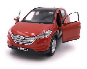 Hyundai-tucson-SUV-Orange-maqueta-de-coche-con-matricula-de-deseos-escala-1-34
