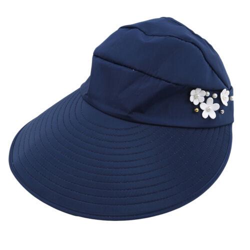 Women Sun Visor Hat Mesh Quickly-dry Sun Protection Hat Wide Brim Cap N7