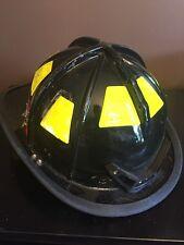 Cairns 1010 Fire Firefighter Helmet Black Good Used Condition Halloween Costume