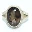 Sterling-Silber-traditionellen-asiatischen-Vintage-Style-Smoky-Quartz-Ring-Gr-m1-2-Geschenk Indexbild 1