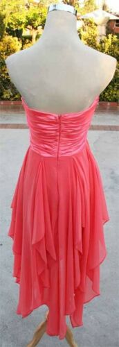 NWT TAWNY $110 CORAL Juniors Party Dance Prom Dress L