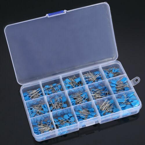 300PCS 1KV 2KV 3KV 15 Value High Voltage Ceramic Capacitor Assortment Kit CAO
