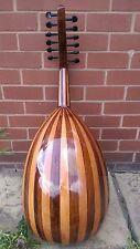Damascus Arabic Walnut Oud String Instrument Fretless Lute+ Padded Gig Bag Case