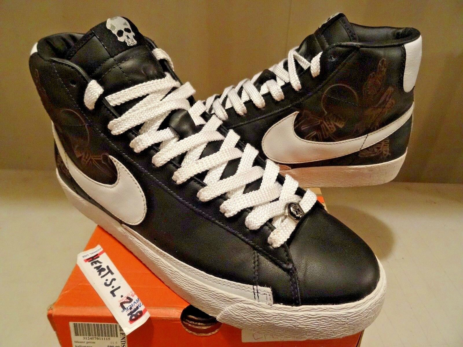 2006 Nike Blazer Halloween SB BLK OFF Weiß Orange BLAZE 312457-011 SZ 11.5 DUNK