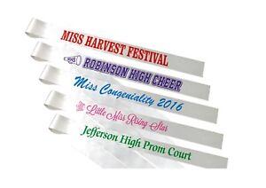 8-Custom-Printed-Pageant-Sashes-Individual-Titles-Free-Shipping