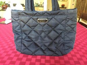 Image Is Loading Marc Jacobs Black Logo Quilted Cloth Workwear Large