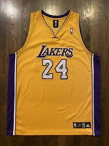 Details about Adidas Authentic KOBE BRYANT #24 Los Angeles LA Lakers Jersey Size 52 XXL 2XL