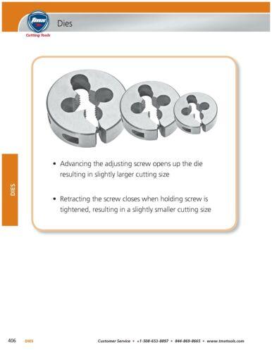 """10-24 Threading Round High Speed Steel Die 13//16/"""" Outside Diameter"""