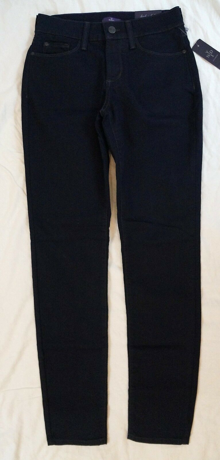 New NYDJ Womens Alina Legging Size 0 Stretch Dark Resin Wash Jeans