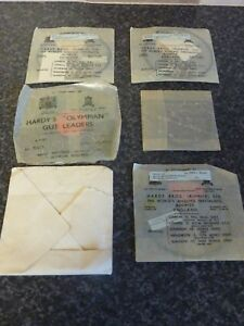 6x-VINTAGE-HARDY-BROS-ALNWICK-LTD-FISHING-TRACES-IN-PACKAGING-amp-METAL-TIN