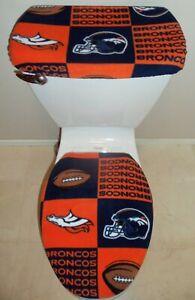Sensational Details About Nfl Denver Broncos Block Fleece Toilet Seat Cover Set Bathroom Accessories Andrewgaddart Wooden Chair Designs For Living Room Andrewgaddartcom