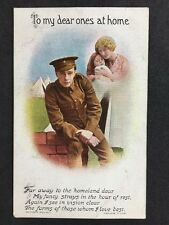 Vintage Postcard: Military Card #A33 : To My Dear Ones At Home