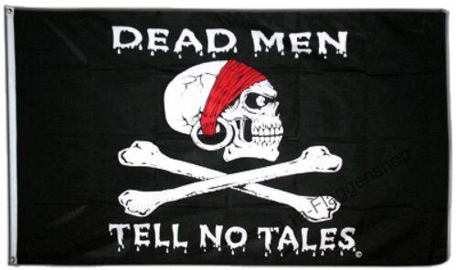 PIRAT DEAD MEN TELL NO TALES Hissflagge PIRATEN Fahnen Flaggen 90x150cm