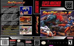 Details about Street Fighter II Super Nintendo Replacement SNES Box Art  Case Insert Cover Scan