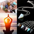 Gemstone Pendant Necklace Natural Quartz Crystal Point Chakra Healing Jewelry